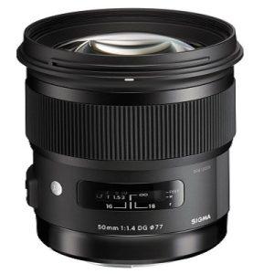 امکانات لنز دوربین سیگما 50mm f/1.4